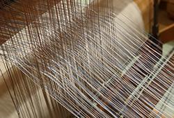県伝展 十日町織物 機織り体験