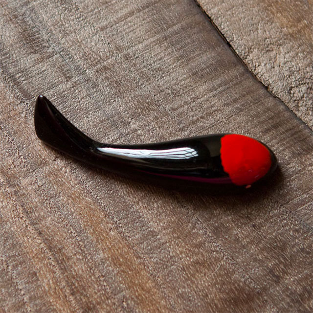KOIOKI NO.06 black + red Urushi (artist creation)