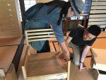 野本さん桐の椅子 古民家展2018