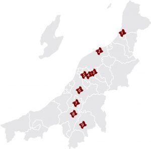 新潟県伝統的工芸品展2019 産地マップ