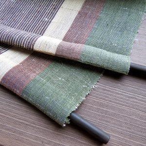 桑原織物①-B 越後上布テーブルランナー/両端に袋縫加工あり
