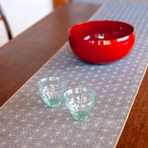 新潟の織物/小千谷紬 麻の葉 シェード