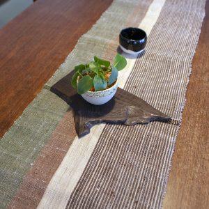 桑原織物 越後上布テーブルランナー