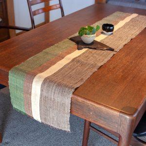 原織物 越後上布テーブルランナー