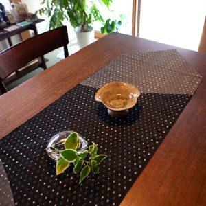 新潟の織物/十日町絣 黒&グレー